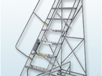 Easy Turn Steel Rolling Ladders