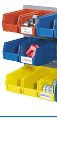 Premium Stacking Bins with Wall Rack